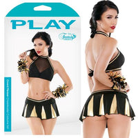 Play Crowd Plsr Cheerleader Blk/Gld XL