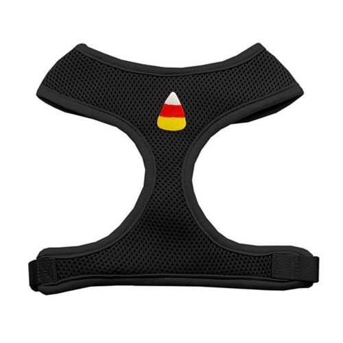 Candy Corn Chipper Halloween Dog Harness - Black