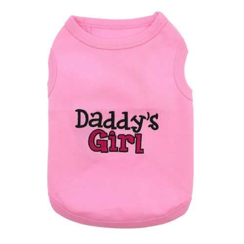 Daddy's Girl Dog Tank by Parisian Pet - Pink