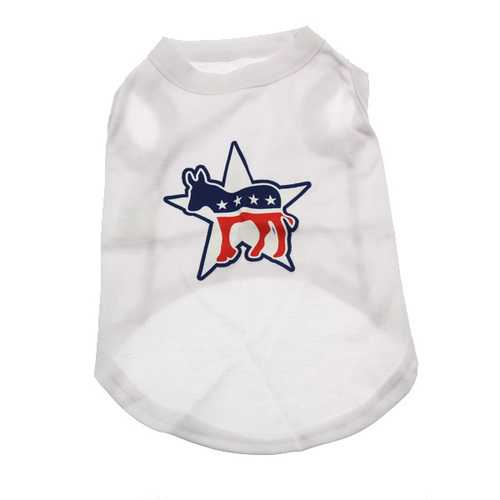 Democratic Party Star Dog Tank Top - White