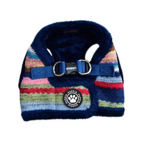 Crayon Vest Style Dog Harness By Puppia - Navy