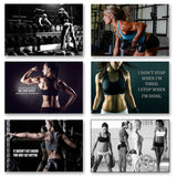 6pcs Sex Model  Motivational Bodybuilding Quotes for Gym Art Silk Posters and print for room wall Decor