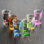 6pcs/set Colorful glass bar tools set mini wine cup suits liquor magic bullet cocktail glass cup