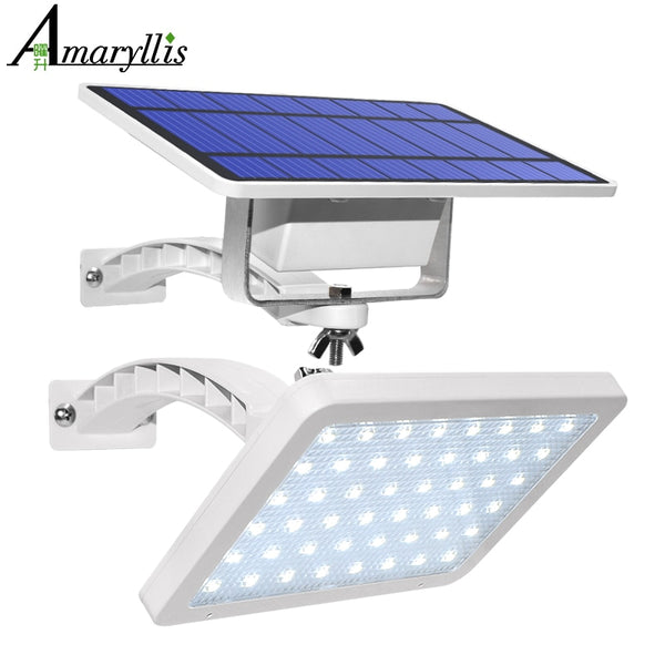 800lm Solar Lamp 48 LED Light For Outdoor Garden Wall Yard LED Security Lighting With Adustable Lighting Angle