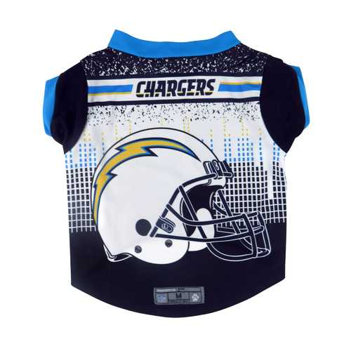Los Angeles Chargers Pet Performance Tee Shirt Size XL