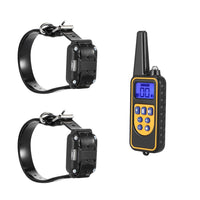 880 Strong Signal Electric Dog Training Collars Rechargeable Collars With 800m Remote Control Receiver Pet Training Dog Collars