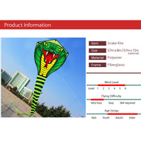 8M Snake Kite Single Line Flying Kite with 30M Line for Family Outdoor Sports Fun Toy