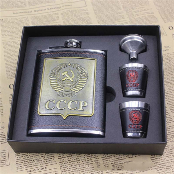 8oz Stainless Steel Hip Flask Personalized Bracelet With Caps Liquor Alcohol Drink 2 Cups 1 Funnel Gift Box Set Whisky Vodka