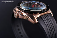 Forsining Luxury Brand Watch Tourbillon Date Day Display Rose Golden