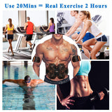 ABS Stimulator Muscle EMS Abdomen Muscle Trainer Toner Toning Belt Home Gym Office Fitness Arm/Leg Vibration Fitness Massager