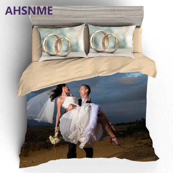 3D Love is Forever Printed Bedding Set. Quilt Cover Pillowcase Bed Set.