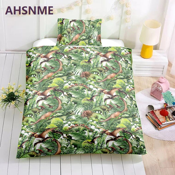 AHSNME Special Promotion! ! ! Dinosaurs in the jungle Bedding Set Quilt Cover Home Textiles in the USA and AU nad EU sizes