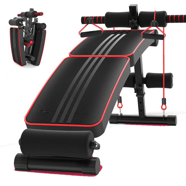 Adjustable Folding Declined Sit Up Board Mutifunctional Abdominal Bench Home Gym Fitness Bench-Crunch Push up