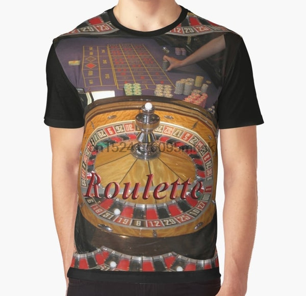 All Over Print  Men t shirt Funny tshirt casino roulette wheel and table Graphic Women T-Shirt