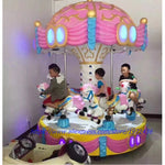 Amusement Park Equipment Arcade Game Machine 6 Seats Carousels Horse Kiddie Rides For Children