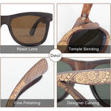 Angcen Unisex Polarized Sunglasses Men driving wood bamboo handmade Vintage Retro sunglasses Women Brand designer eyewear