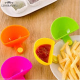 Assorted Salad Saucer Ketchup Jam Dip Clip Cup Bowl Saucer Box for Tomato Sauce Sugar Kitchen Gadgets Tableware Kitchen Tool