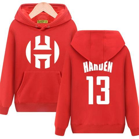 Autumn Winter hooded For Harden basketball hoodies pullover men cotton thicken long sleeve exercise Jackets