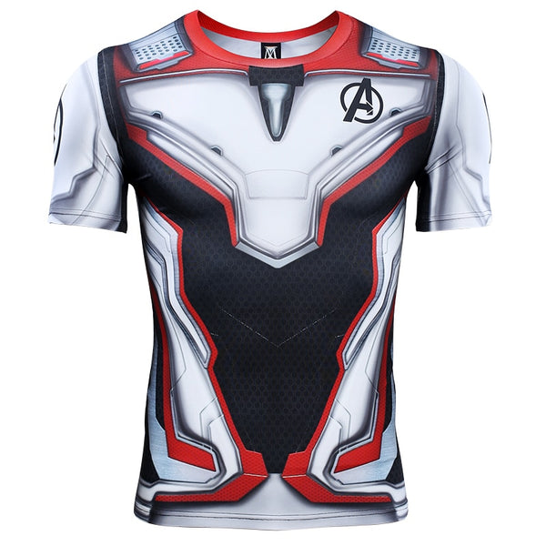 Avengers 4 Endgame Quantum War 3D Printed T shirts Men Compression Shirt Iron man Cosplay Costume Long Sleeve Tops For Male