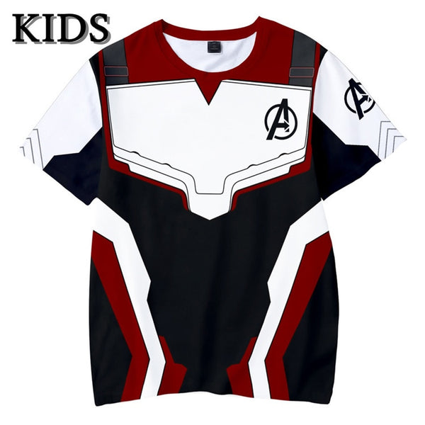 Avengers Endgame boys t shirt Quantum Realm Kids Top Tee Advanced Tech children clothing Cosplay Costumes 2019 kids tshirt