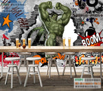 Avengers Photo Wallpaper Custom 3D Hulk Wallpaper Graffiti Wall Mural Children Bedroom Office TV Backdrop Super hero Room decor