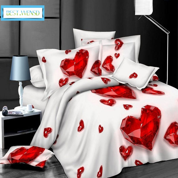 4pcs High quality Deluxe bedding LOVE. KING SIZE ONLY. Make sure Color number and Size number are the same.