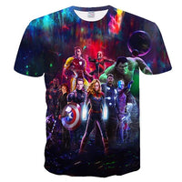 BIANYILONG 2019 new tshirt men men / women marvel movies 3d t shirt  avengers endgame printed men t shirt t shirt streetwear top