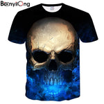 BIANYILONG Newest Harajuku Skull 3D Print Cool T-shirt Men/Women Short Sleeve Summer Tops Tees T shirt Fashion