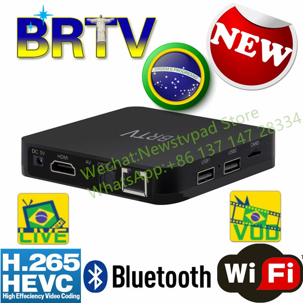 BRTV HTV BOX 5 btv box Brazilian Portuguese TV Internet Streaming Box free  Live TV Movies Brasil Media Player better than HTV A2