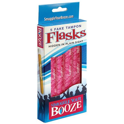 Smuggle Your Booze Tampon Box w/5 Tubes & 5 Wrappers
