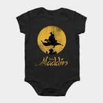 Baby Onesie Baby Bodysuits kid t shirt Funny novelty Aladdin Magic Carpet Silhouette Graphic
