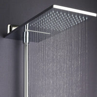 Bathroom Rain Shower Set Thermostat Faucet Mixer Tap Chrome Brass Waterfall Bath Shower Head Digital Shower Panel System