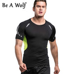 Be A Wolf Men Yoga Sports T-Shirt for Gym Running Yoga Tops Bodybuilding Crossfit Fitness Outdoor Workout Sports Clothing Tees