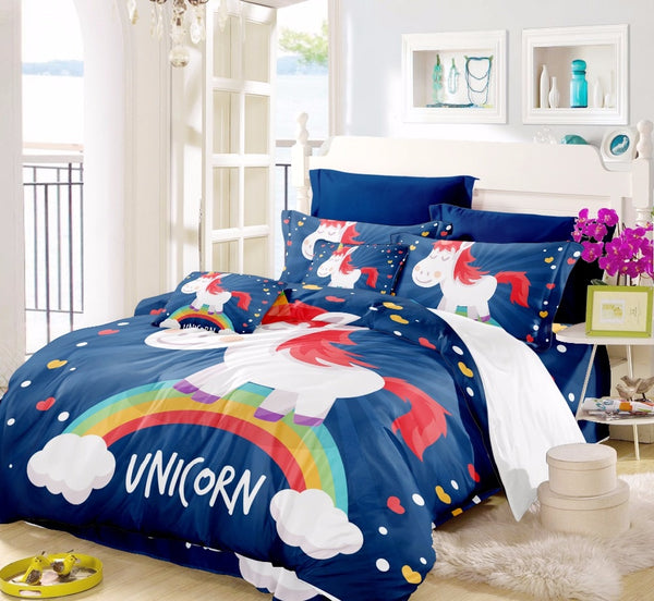 Bed Unicorn Bedding Set For Girls Bedspread Child China Air Express Bed Pikachu Kawaii Bed Sheets Bed Sheet Duvet Cover F