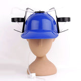 Beer drink hat, creative lazy drink straw helmet, ball wedding party Christmas to ball game world cup beverage utensils