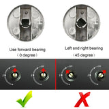 Behogar 2Pcs 6/8mm Universal Metal Rotary Switch Control Knobs Replacement for Kitchen Cooker Gas Stove Oven Cooktop Accessories