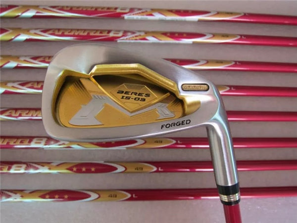 Brand New Honma Beres IS-03 Iron Set Honma IS-03 Golf Irons Golf Clubs 5-11AwSw(9PCS) L-Flex Graphite Shaft With Head Cover