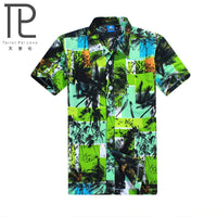 Brand Summer Hot Selling Hawaiian Men's Hawaii Beach Shirt, Men Short Sleeve Floral Loose Casual Shirts Fast drying Asian Size