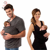 Breastfeeding Clothes Maternity Multifunctional Kangaroo Tank Top Dad T shirt Nursing lactation Feed Clothes For Pregnant Women