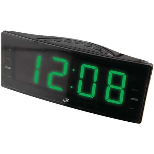 GPX C353B AMFM Clock Radio with Dual Alarms and LED Display