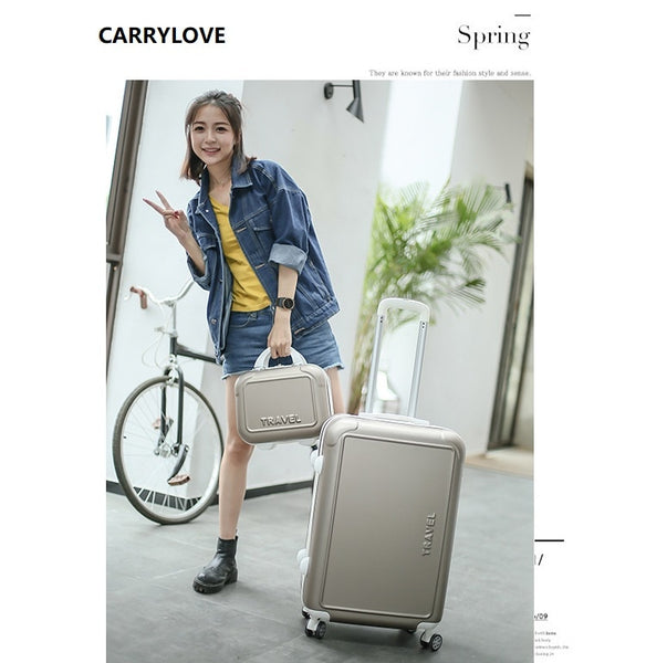 CARRYLOVE fashion luggage series 20/22/24/26inch PC Handbag and  Rolling Luggage Lightweight  Travel Suitcase