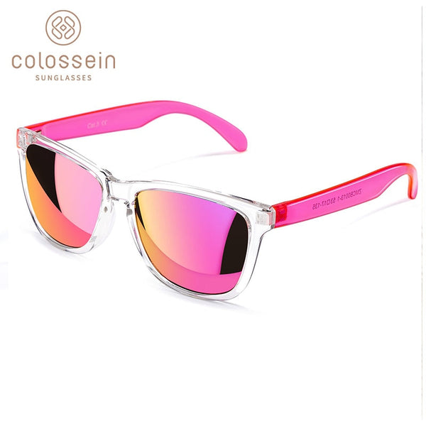 COLOSSEIN Sunglasses Women Fashion Sun Glasses Colorful Square Frame Eyewear Holiday Sports Beach Style Adult Glasses UV400
