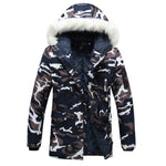 Camouflage Down Parkas Jackets  2018 Men's Parka Hooded Coat Male Fur Collar Parkas Winter Jacket Men Military Down Overcoat