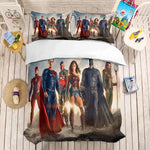 Cartoon Avengers Bedding Set Justice League Superman Spider-Man Strange Doctor Bedding Set Wonder Woman Superhero