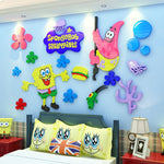 Cartoon Seaworld Acrylic Wall Stickers 3D Starfish Sticker Kindergarten Kids Room Decorations Interesting DIY Stickers