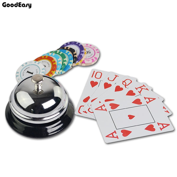 Metal Ringer Call Bell Service Casino Baccarat Game Hotel Counter Reception Restaurant Bar Poker Game Competition