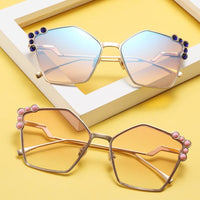 Cat Eye Sunglasses Italy Luxury Brand Designer Women Mirror Sun glasses Vintage Metal Brown Pink Sun Glasses Female Goggle
