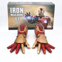 Iron Man MK42 Guntlet Arm Laser Device Palm Light Sound Effect Cosplay Model Collection Toy Gift With Original Box