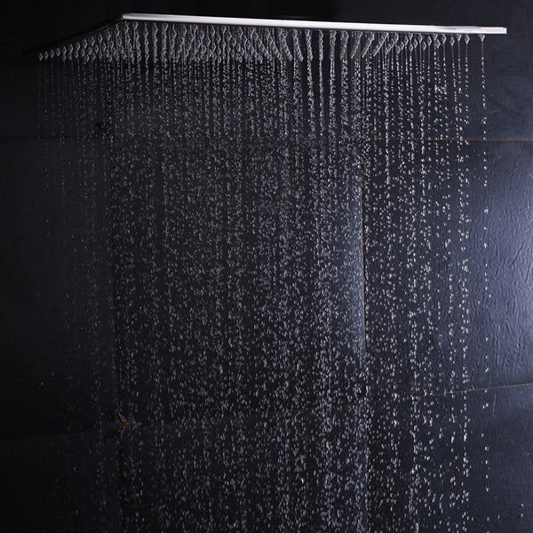 Ceiling Mounted Rainfall Shower Head 304SUS Big Rain Shower Bathroom 20 Inch Shower Panel Without LED Showers With 4 Shower Arms