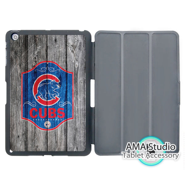 Chicago Cubs Baseball Pattern Print Cover Case For Apple iPad Mini 1 2 3 4 Air Pro 9.7 10.5 12.9 2016 2017 a1822 New